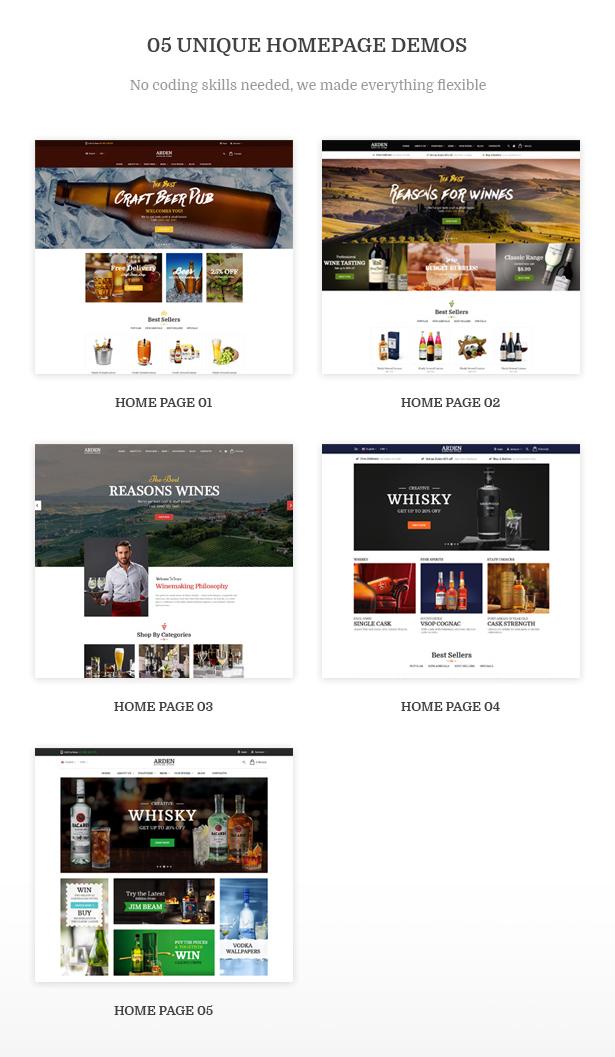 05+ Eye-Catching Homepage Demos Arden - Modern Brewery & Pub WordPress Theme