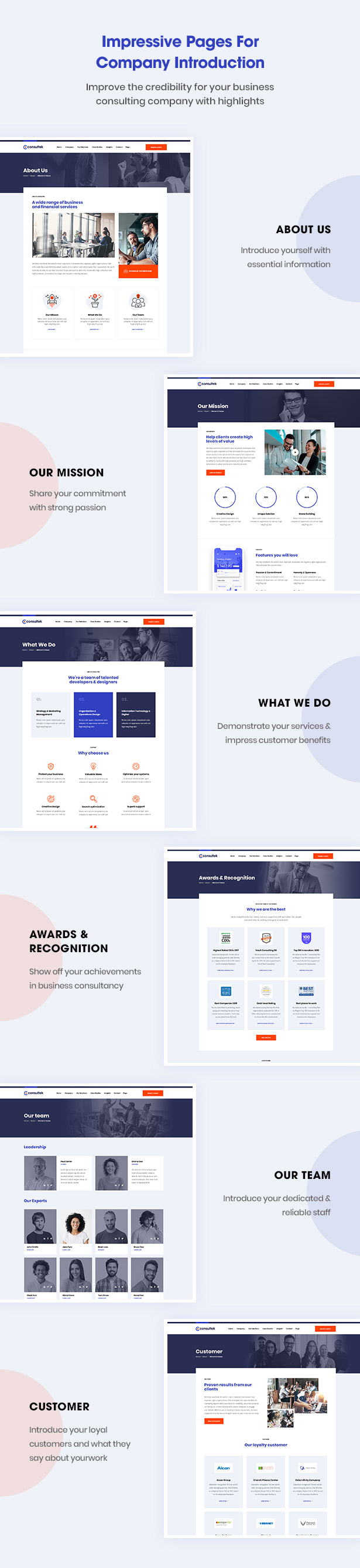 Consultek Functional Pages- Consulting Business WordPress Theme