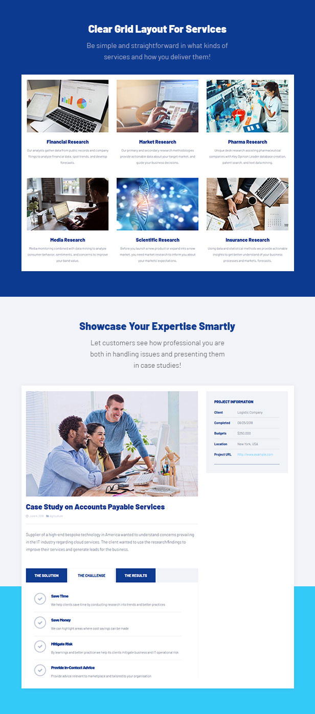 Business Consulting WordPress Theme - Grid Blog Service
