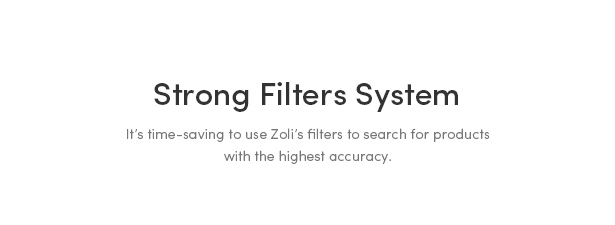 Powerful Categories, Filters & Tags - Zoli - Minimal & Modern Fashion WooCommerce WordPress Theme