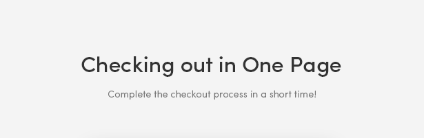 One Page Checkout Process - Zoli - Minimal & Modern Fashion WooCommerce WordPress Theme