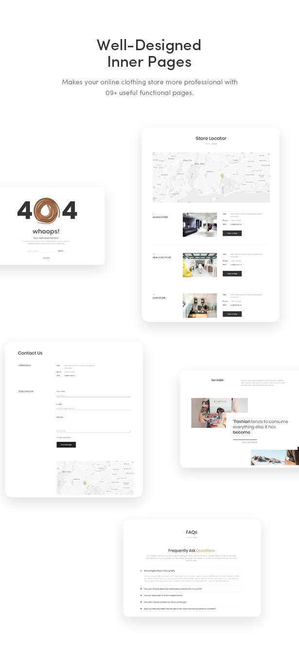 09+ Great Functional Pages - Zoli - Minimal & Modern Fashion WooCommerce WordPress Theme