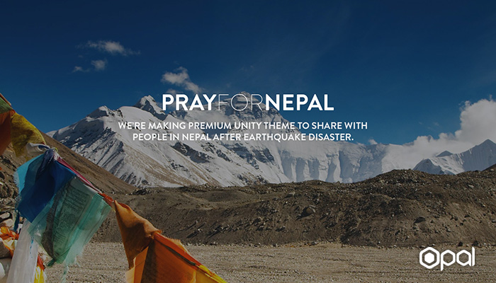 save nepal earthquake with unity theme