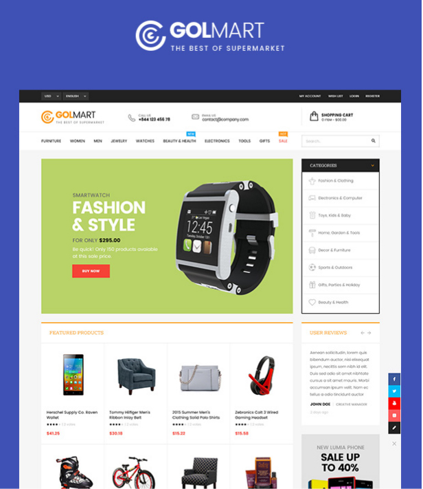 Golmart - Creative WooCommerce WordPress Theme Released | WpOpal