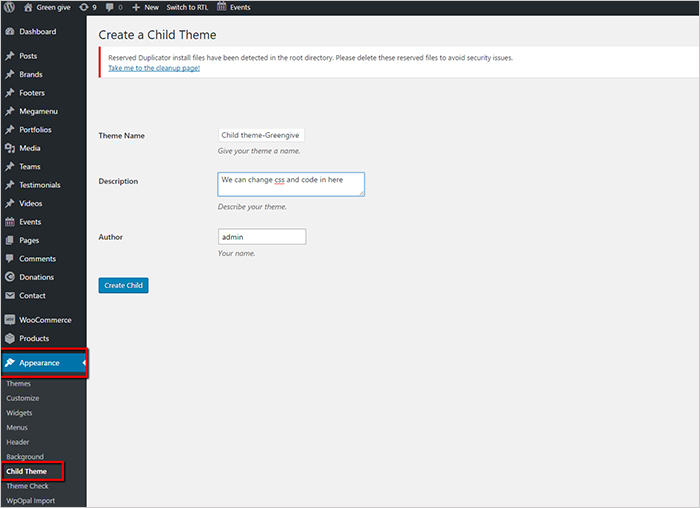 How to create child theme for WordPress Theme| Opal WordPress | WpOpal