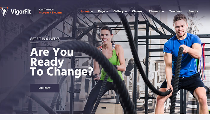 Top 12+ Best Gym Fitness WordPress Themes 2017