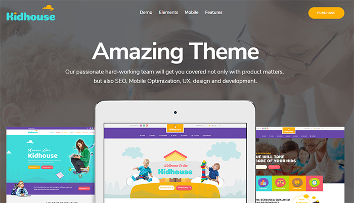 KidHouse - School Education WordPress Theme for Children