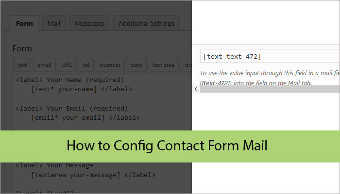 How to Config Contact Form mail