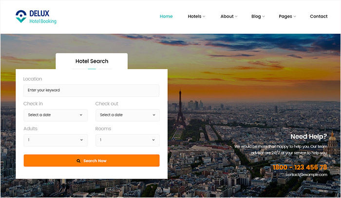 Best selling Online Hotel & Tour Booking WordPress Themes