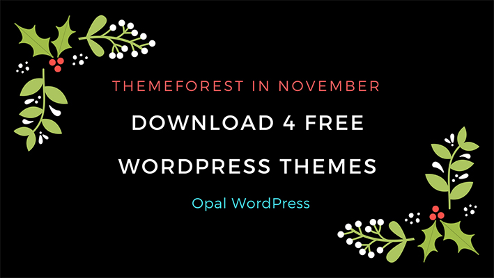 download 4 free wordpress themes on Themeforest