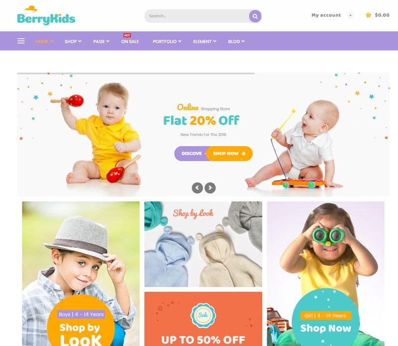 10. BerryKids best WooCommerce WordPress Theme 2018