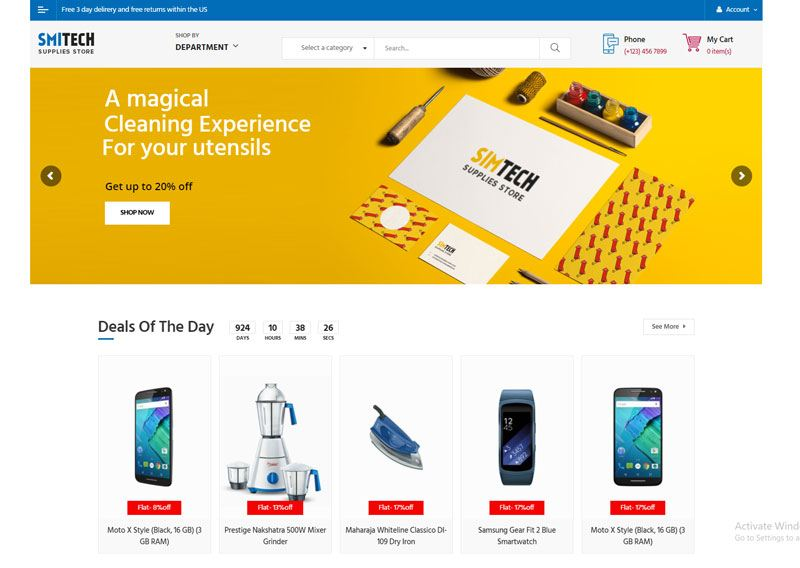 2. Smitech best WooCommerce WordPress Theme 2018