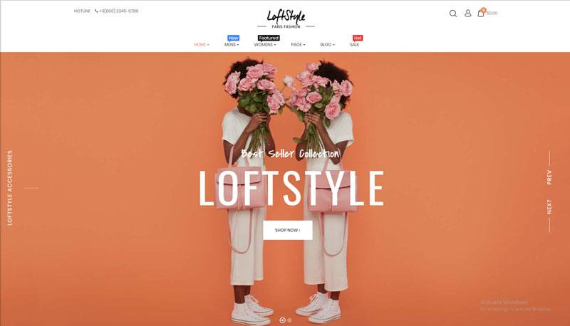 4. Loftstyle best WooCommerce WordPress Theme 2018
