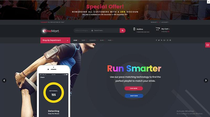 7. Vinamart best WooCommerce WordPress Theme 2018