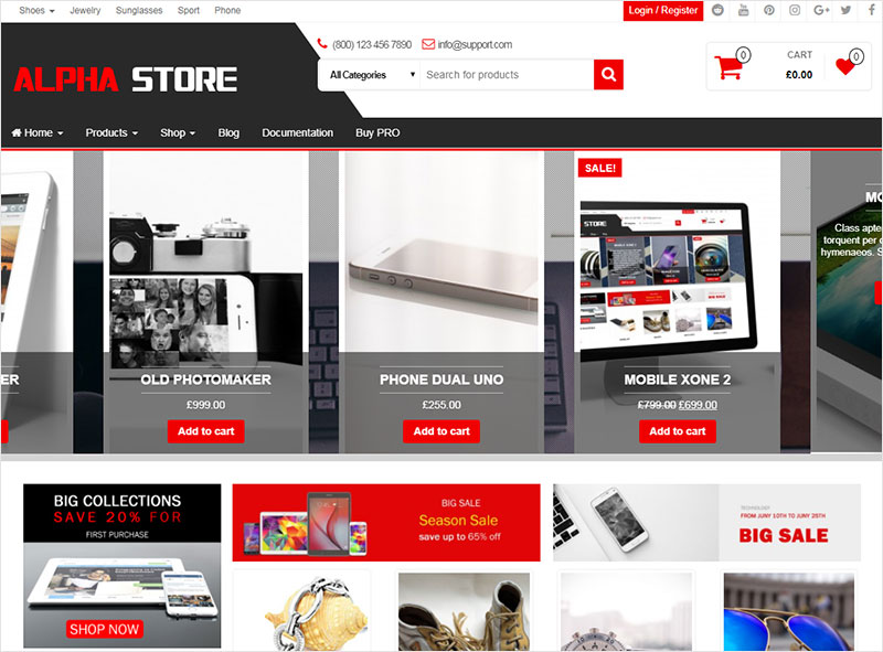 alpha wordpress theme
