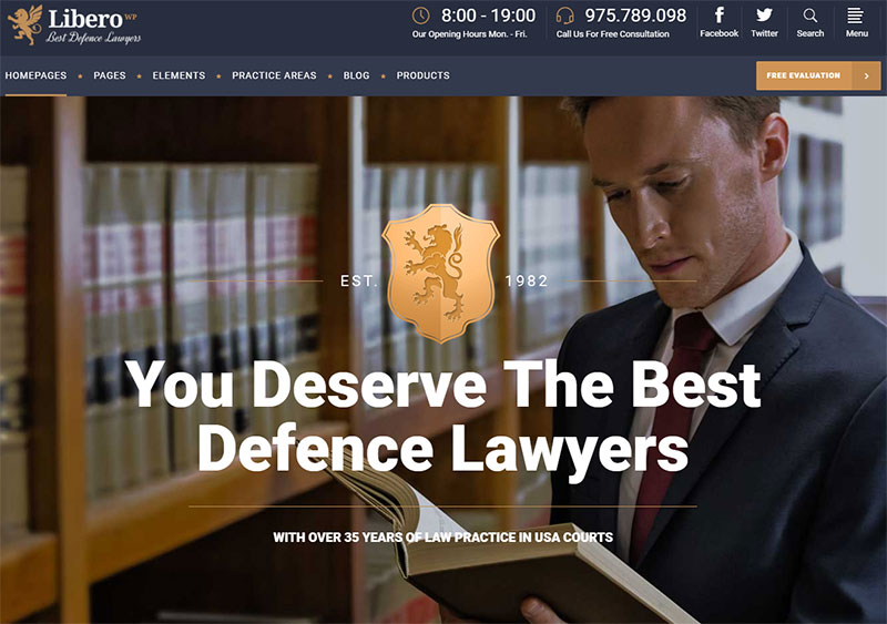 libero law wordpress theme