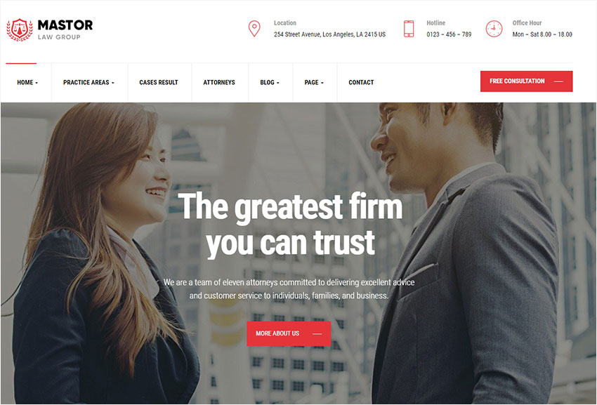best law wordpress themes