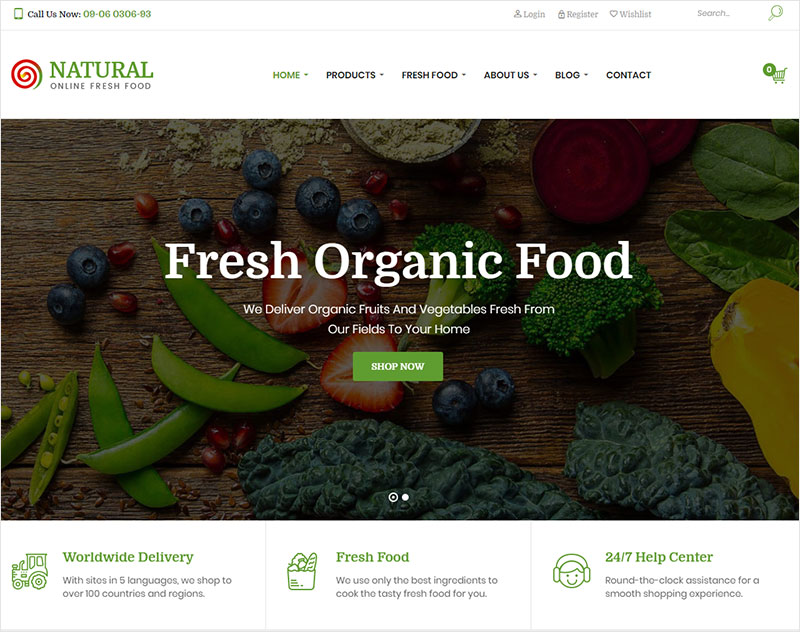 natural free wordpress theme