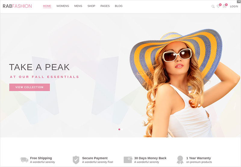 rab fashion woocomerce wordpress theme