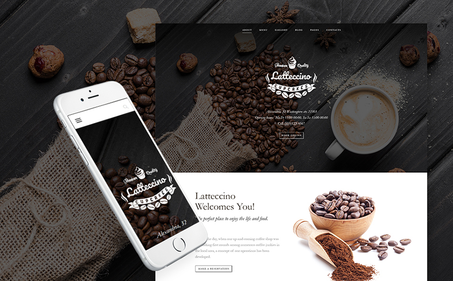 Coffee Shop WP Theme