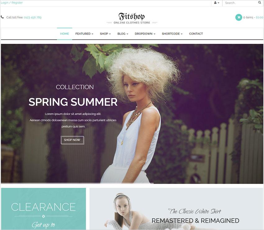fitshop wordpress theme