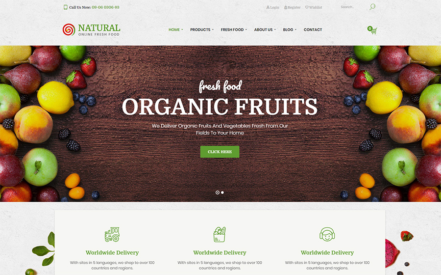 Natural WordPress Theme