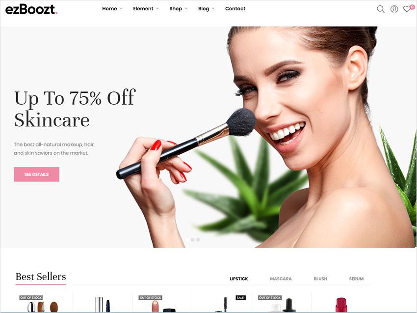 ezboozt cosmetic wordpress theme