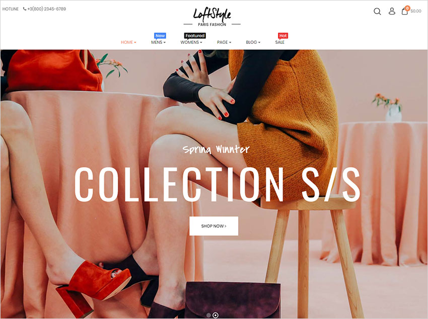 loftstyle wordpress theme