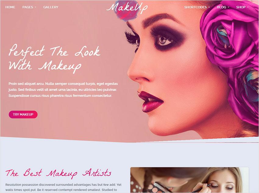 makeup wordpress theme