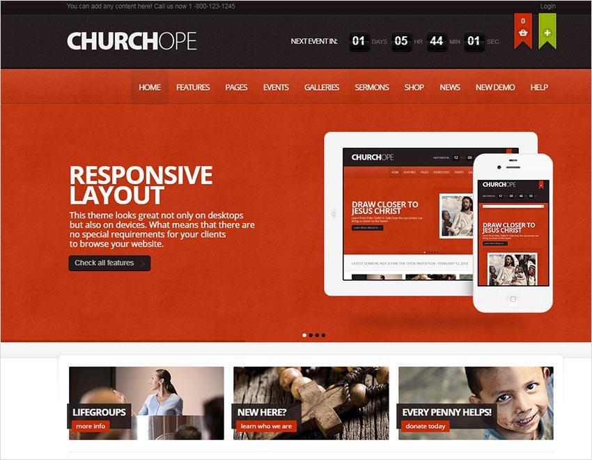 ChurcHope - Responsive WordPress Theme