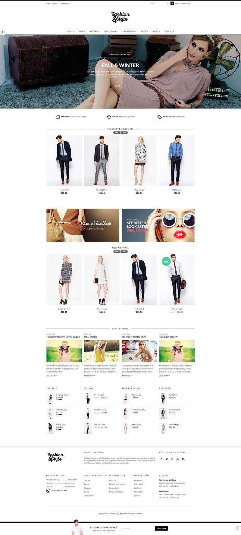 Fashion-WooComerce WordPress Themes