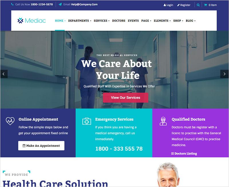 Mediac Pharmacy WordPress Theme