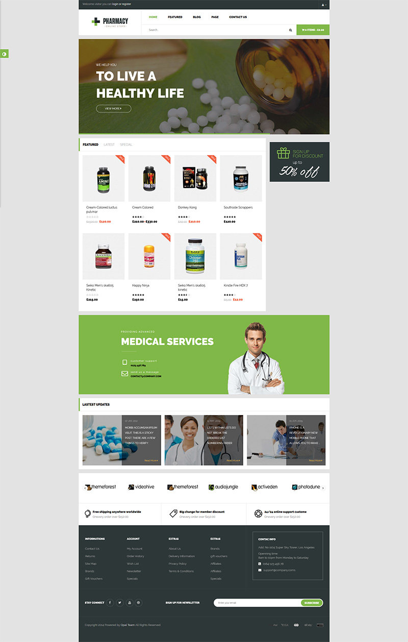 Pharmacy-WooComerce WordPress Themes