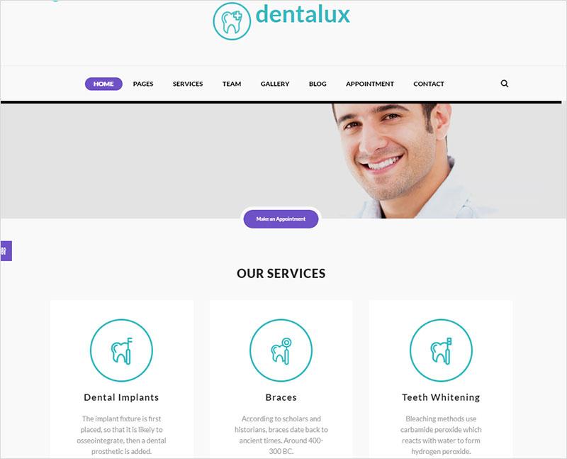 dentalux pharmacy wordpress theme