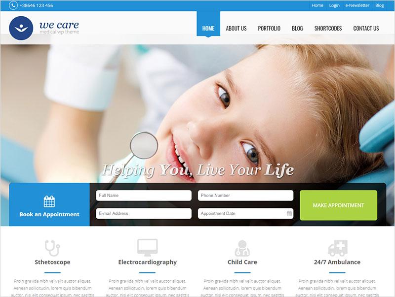 we-care pharmacy wordpress theme