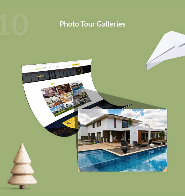 Photo tour galleries-Single Property Real Estate WordPress Theme