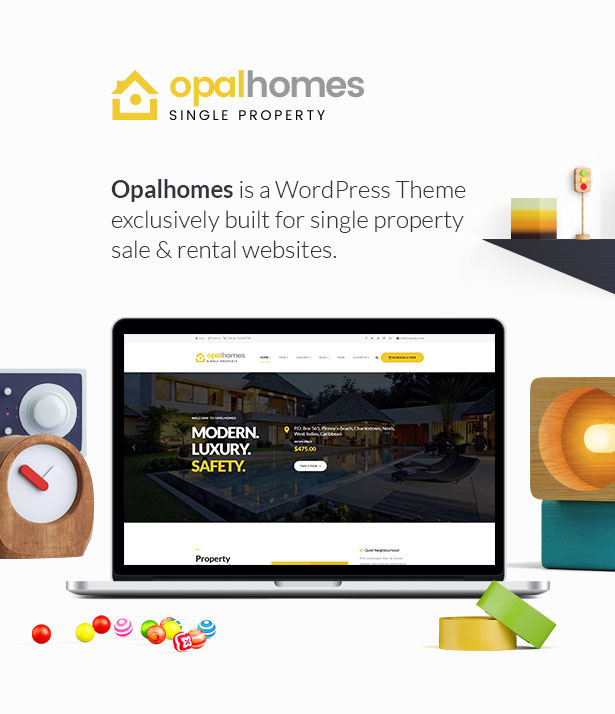 Real estate web design Single Property Real Estate WordPress Theme