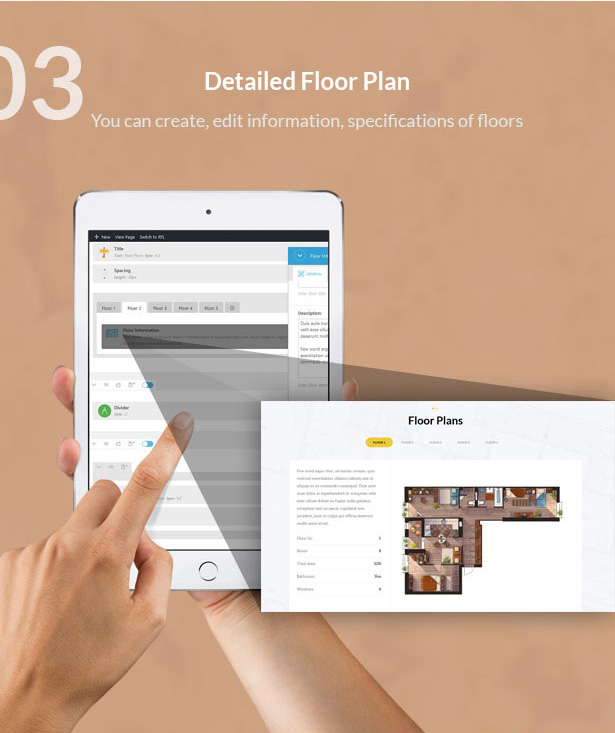 detailed floor plan-Single Property Real Estate WordPress Theme