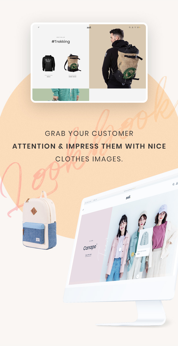 Attractive Lookbooks Styles - Zoli - Minimal & Modern Fashion WooCommerce WordPress Theme