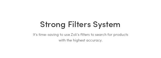 Powerful Categories, Filters & Tags - Zoli - Minimal & Modern Fashion WooCommerce WordPress Theme