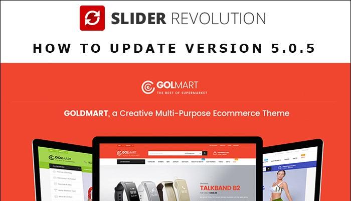 How to update Revolution Slider version 5.0.5