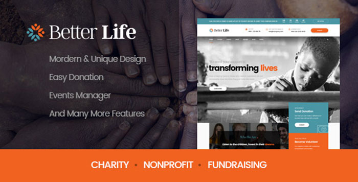 BetterLife   WordPress Theme For Churches And Charity