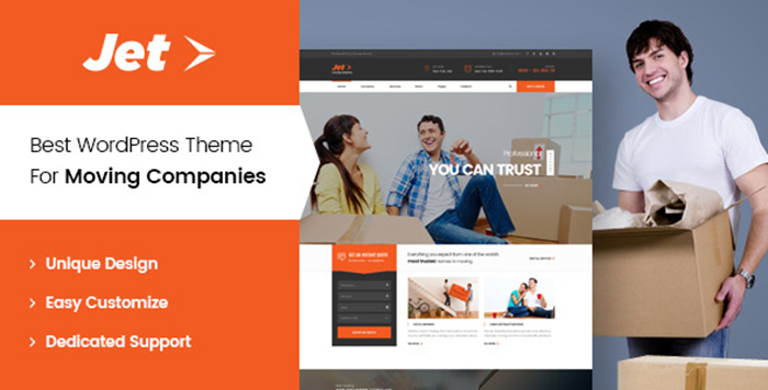 Jet - Home Moving Services WordPress Theme