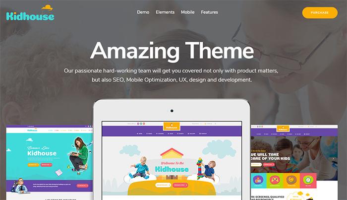 KidHouse   School Education WordPress Theme for Children