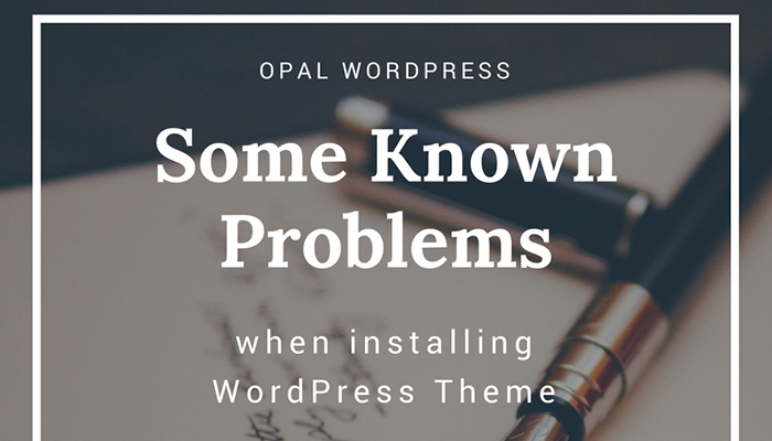 some known errors when installing WordPress Theme