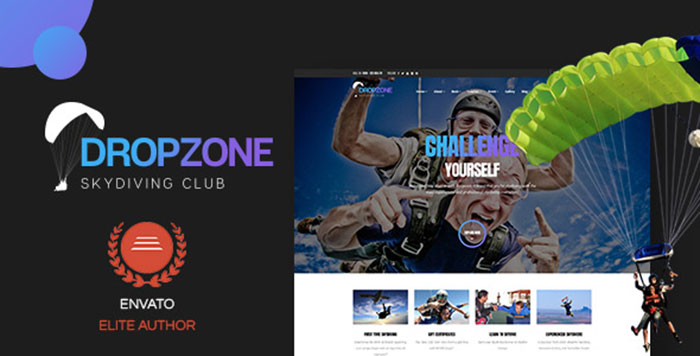 Dropzone   Skydiving Club Responsive WordPress Theme