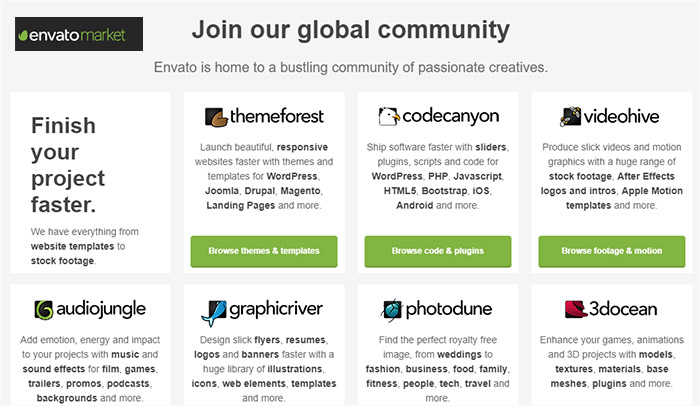 Download Free Items from Envato in October 2017 - WpOpal