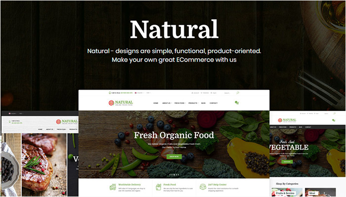 Natural   Online Fresh Food WooCommerce WordPress Theme