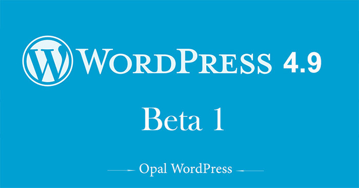 wordpress 4.9 beta 1