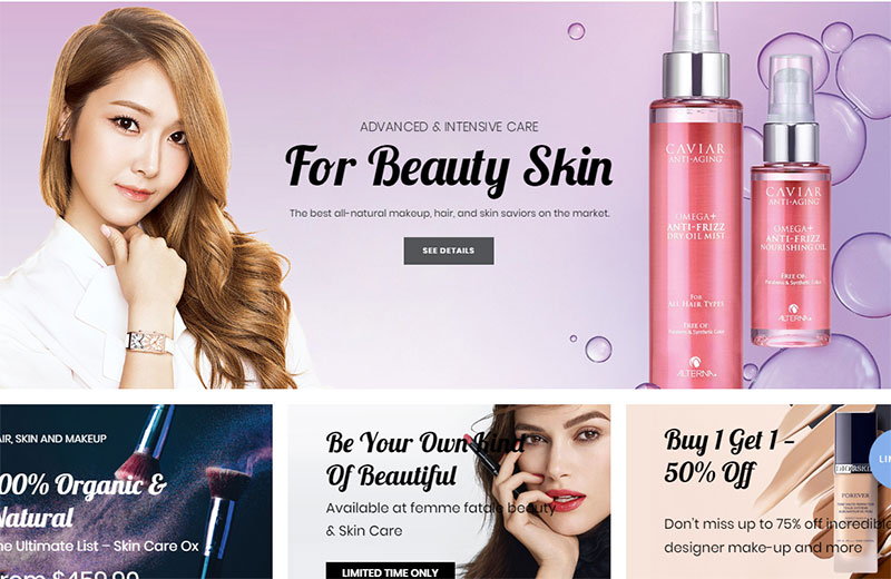 best beauty & cosmetic wordpress themes 2018